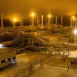 Бованенковское нефтегазоконденсатное месторождение на полуострове Ямал, Россия.